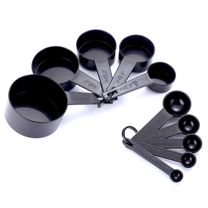 10pcs Plastic Measuring Cups and Spoons for Baking Tea Coffee Kitchen Tools Sets