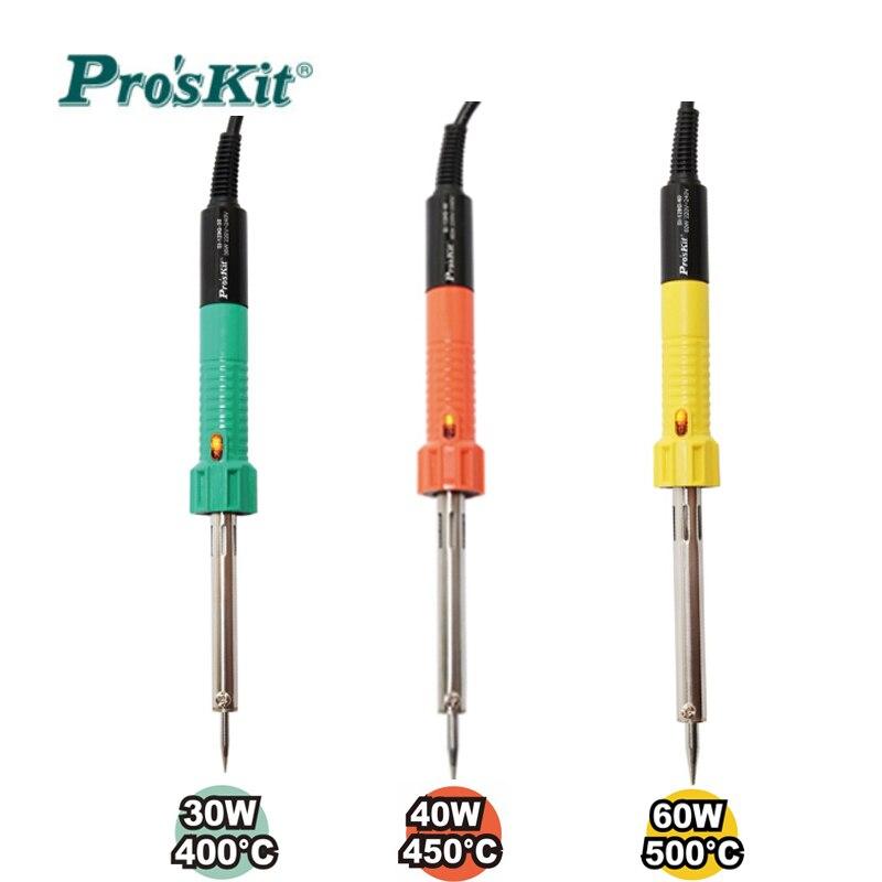 ProsKit 30W 40W 60W Electric Soldering Iron 220V Lead-Free Efficient Longevity Soldering Iron Tip Welding Repair Assistant Tools