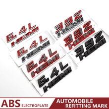 Etiqueta do carro hemi 392 6.4l motor fender tronco emblema para ram 1500 2500 3500 jeep dodge challenger acessórios automóveis