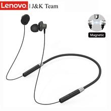 Lenovo auriculares inalámbricos HE05 con Bluetooth 5,0, dispositivo colgante magnético, para llamadas, reducción de ruido, Control de música, 8 horas