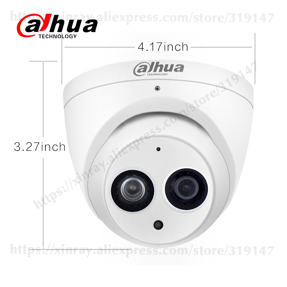 H8d273b665ff24309a8ec63f5ca60b1e6H Dahua IPC-HDW4631C-A 6MP HD POE Network Mini Dome IP Camera Metal Case Built-in MIC CCTV Camera 30M IR Night Vision Dahua IK10