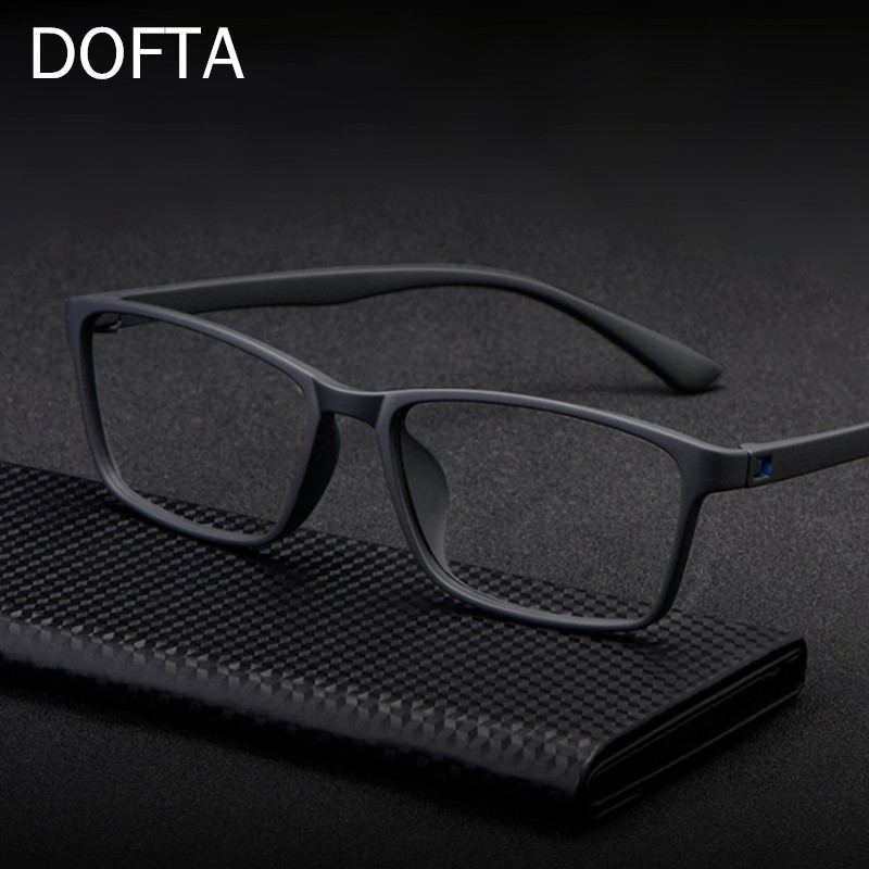 DOFTA Ultralight TR90 Glasses Frame Men Optical Myopia Eyeglasses Male Plastic Titanium Prescription Eye Glasses 5196A