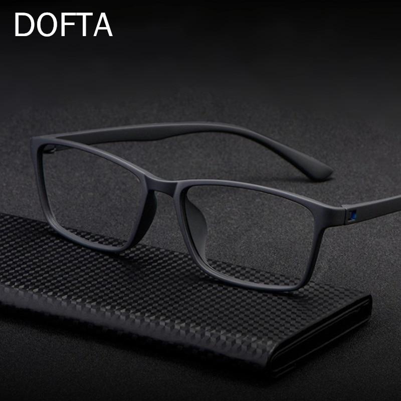 DOFTA Сверхлегкий TR90 оправа для очков Для мужчин оптические очки от близорукости мужской Пластик титановый рецепт глаз очки 5196A