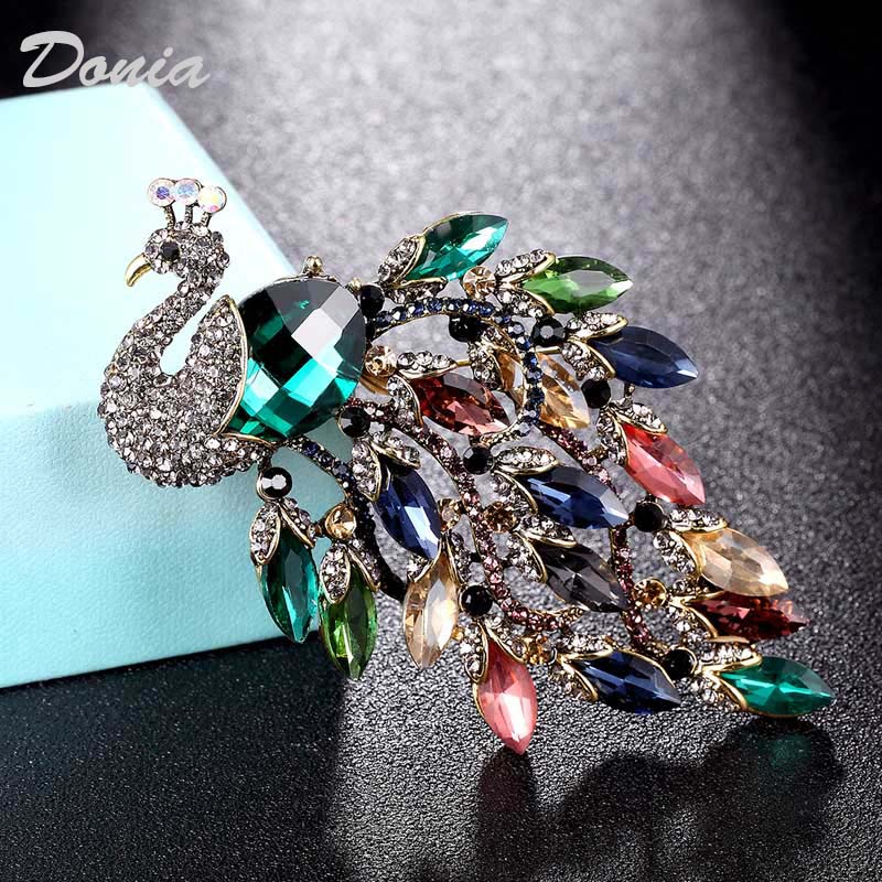 Donia jewelry large size brooch for wedding decoration bridal jewelry women pin brooch fashion scarf hat accessories on AliExpress