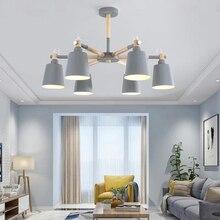 LED Chandelier Loft Indoor Living-Room Suspendsion Nordic Macaron Modern
