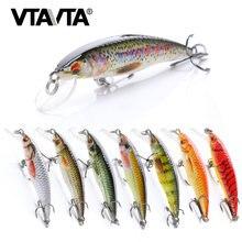VTAVTA 2g/6g/12g Mini vairon Wobblers leurres de pêche flottants Minnow manivelle appât artificiel dur nageur leurre de poisson brochet Wobblers