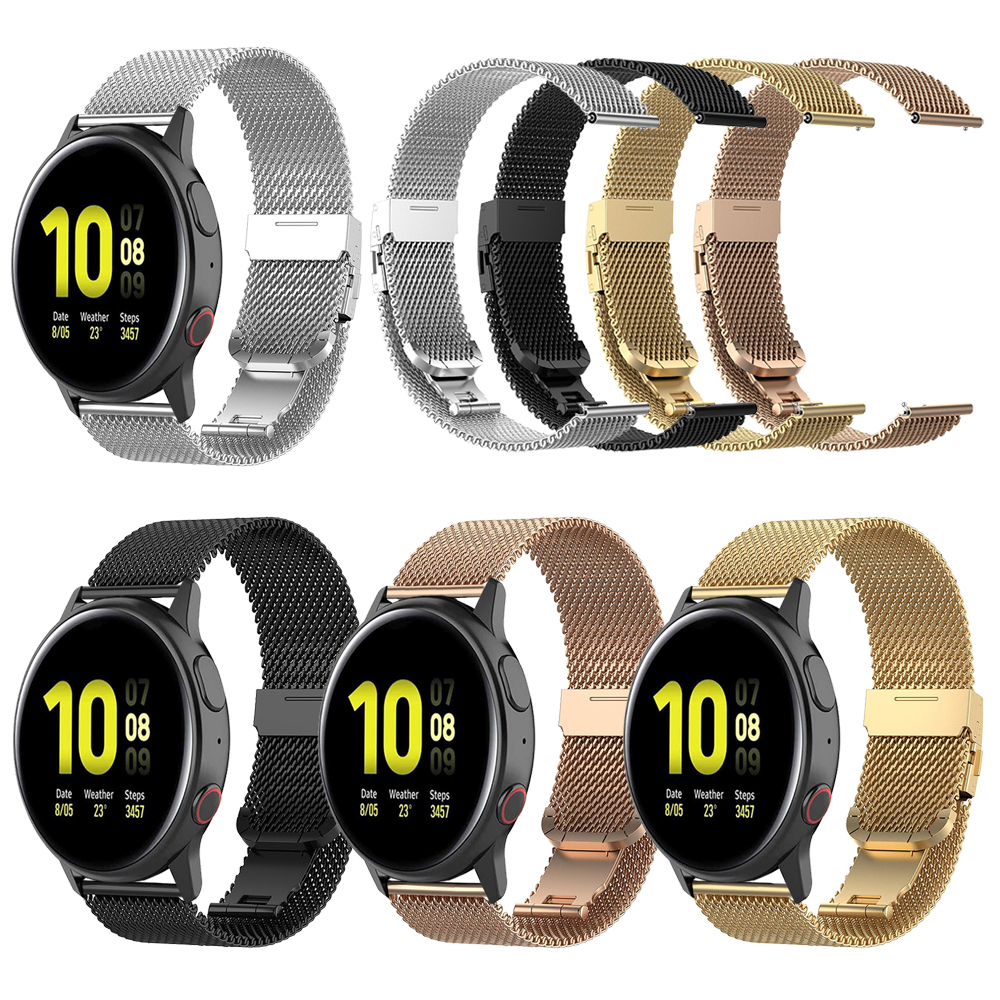 Metal Milanese Strap For Samsung Galaxy Watch Active 2 44mm 40mm/Galaxy 46mm 42mm Smartwatch Band For Gear Sport/S3 Watchbands