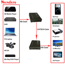 150M 1080P Hd Ir Extender Over Tcp Ip Cat5e/Cat6 Door Rj45 Hd Audio Zender Ontvanger Lan netwerk Extensor Extender Voor Tv Dvd
