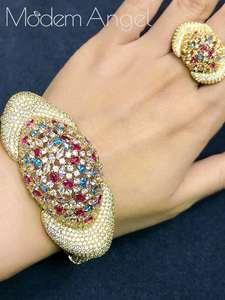 Modemangel Jewelry-Sets Dubai Wedding-Brincos Silver Bridal Women African Fashion Luxury