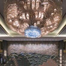 Hotel rectangular lobby crystal lamp non-standard modeling sales department sand table banquet hall villa lighting customization