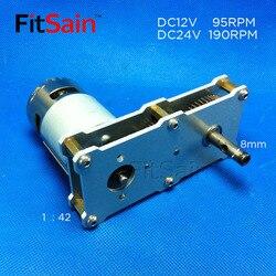 FitSain-редуктор с высоким крутящим моментом 775 мотор DC12 ~ 24V 95 ~ 190 об/мин