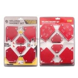 6 sztuk/zestaw trójkąt pozycjoner spawalniczy magnetyczny stały kąt lutowania lokalizator narzędzia bez przełącznika akcesoria spawalnicze Dropship