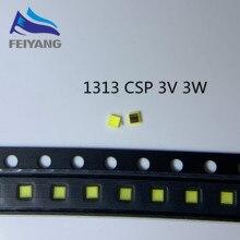 1000 sztuk dla SAMSUNG LED 1313 do tv podświetlenie LED 3W 3V CSP zimny biały podświetlenie lcd do telewizora do tv