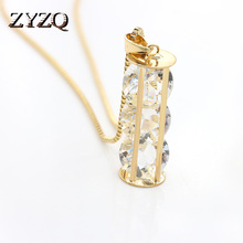 ZYZQ Classic Baroque Enthic Necklace With Simple Shiny Cryst