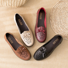 Casual And Comfortable Slope Heel Lazy Shoes Small Fragrant Wind Single Shoes Flat Mother Shoes Women's Asakuchi Flat Shoes