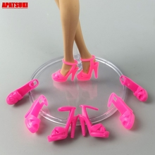 5pairs/lot Random Color Dolls Accessories for High Heel Shoe