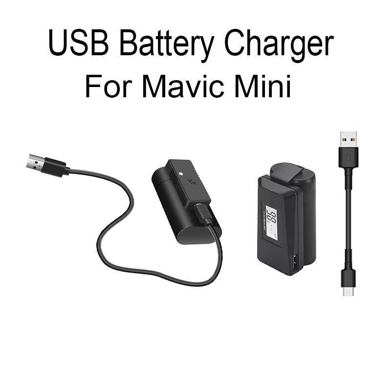 US $8.9 19% OFF|Szybka ładowarka USB do DJI Mavic Mini bateria do drona stacja ładująca przenośna ładowarka Port typu C akcesoria kablowe|Ładowarki