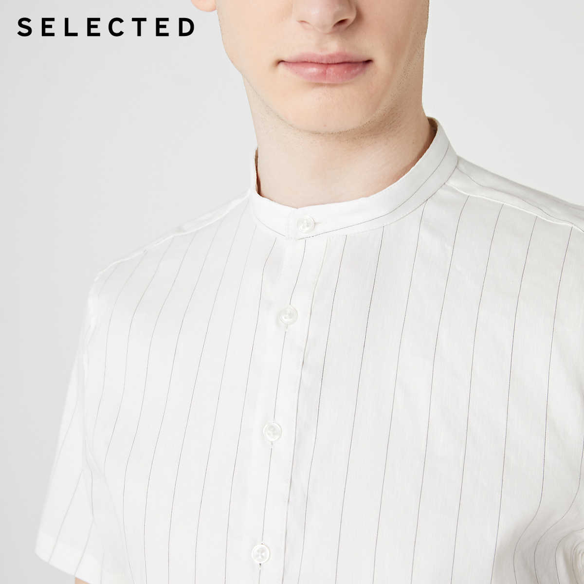 AUSGEWÄHLT männer Leinen Gestreiften Trendy Stilvolle Kurzen ärmeln Business Casual Shirts S   419204566