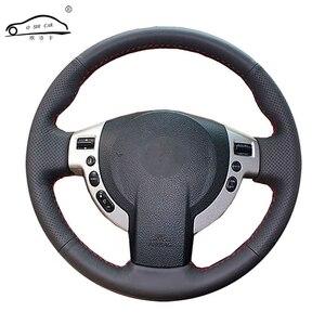 Image 1 - Sztuczna skóra osłona na kierownicę do samochodu dla Nissan QASHQAI x trail Nissan NV200 Rogue/wykonane na zamówienie dedykowane kierownicy