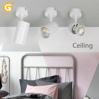 Modern GU10 Track Light 110V 220V Wire Phase Aluminum Ceiling Rail Lights Background wall bar Clothes Shop Store Home Spotlight