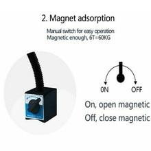 Промышленный светильник ing Регулируемое Магнитное основание портативный супер яркий верстак Гибкий Многофункциональный машинный рабочий светильник