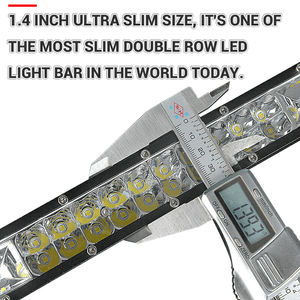 Image 5 - Barra de luz conduzida ultra magro 7 13 13 20 20 polegadas 60w 120w 180w dupla fileira para 4x4 atv fora da estrada combo luzes trabalho do carro barra led