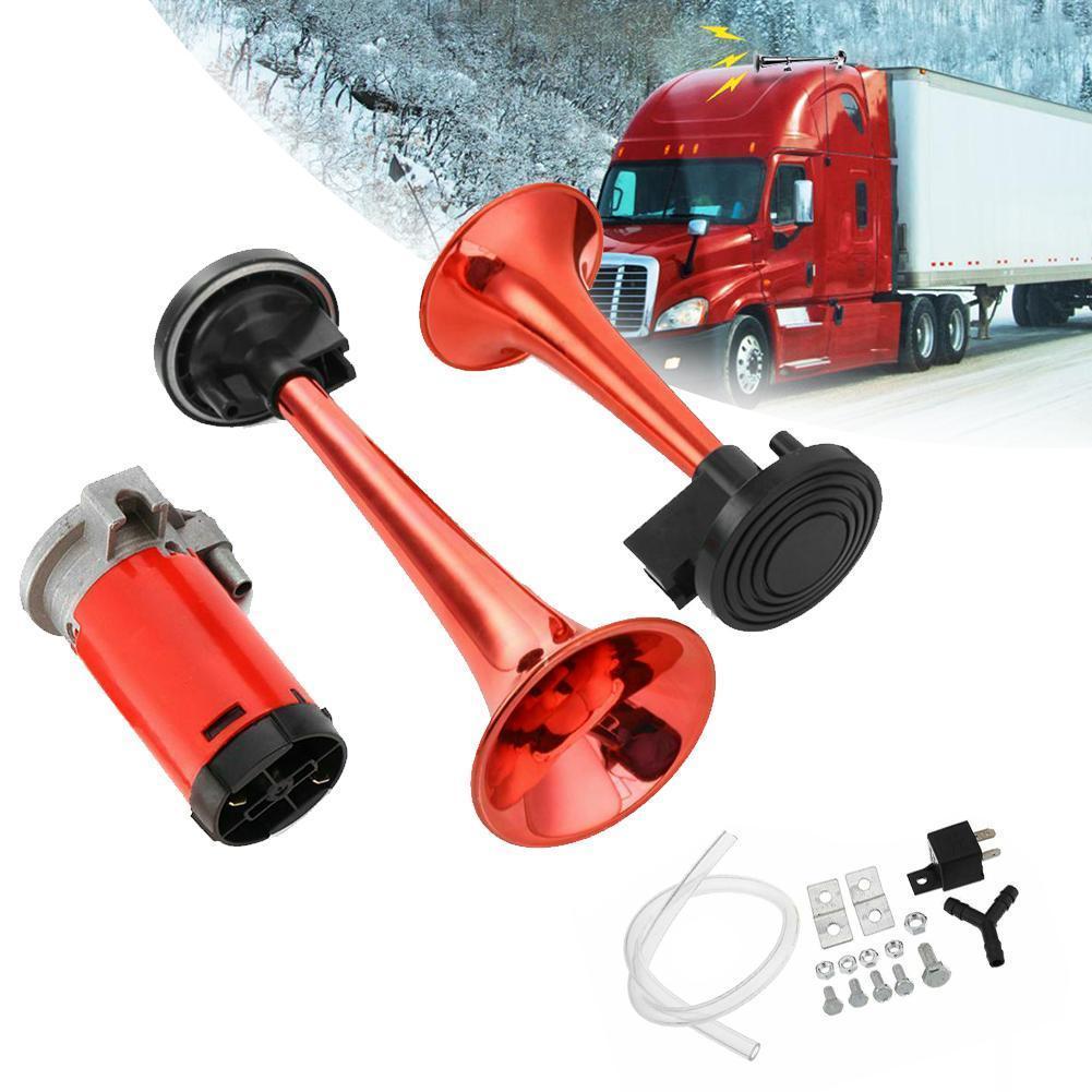 12 V 178dB Super Loud Dual Tone Auto Air Hoorn Set Auto Motorfiets Luidspreker For A Auto Voe Boot Vrachtwagen Compressor tr S9Y8
