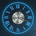 Винтажные настенные часы с подсветкой и римскими цифрами  светодиодный настенные часы с подсветкой  современные декоративные световые час...