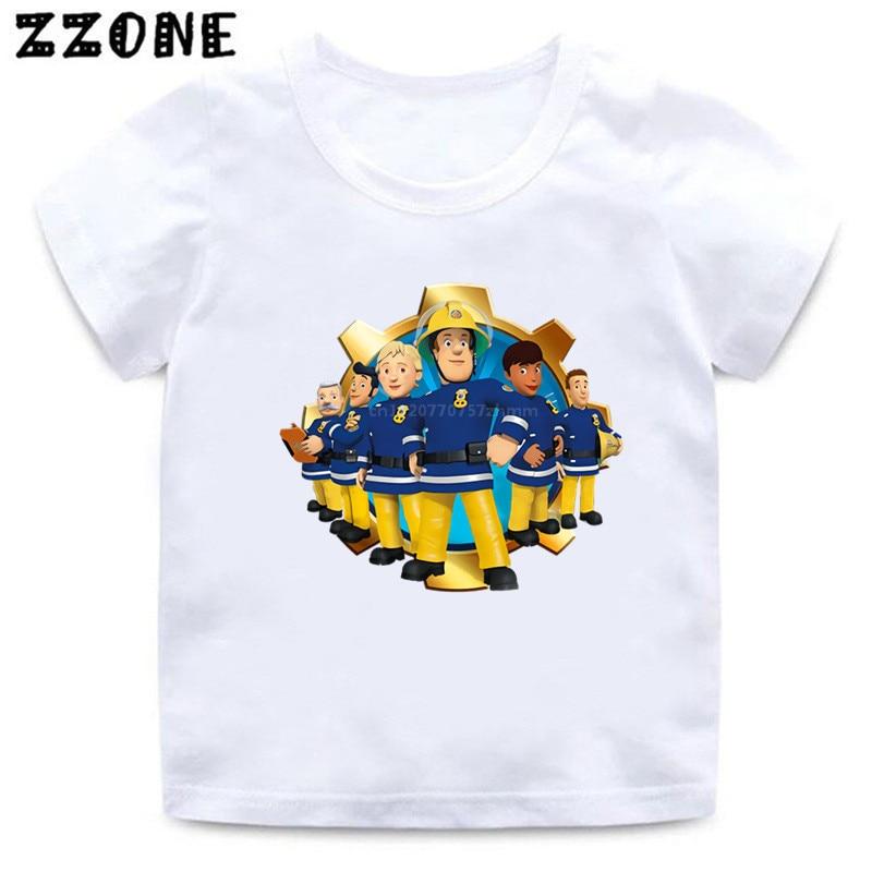 Fireman Sam Boys Long Sleeve T-Shirt Kids Top Childrens Tee with 3D Visor