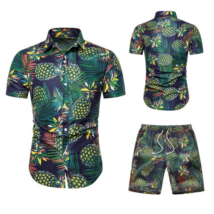 Men's Shirt 2020 Summer New Men's Short Sleeve Beach Suit Hawaiian Shirt Casual Flower Shirt Regular Large Size Men's Clothing