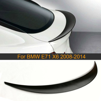 Car Rear Trunk Spoiler Wing for BMW E71 X6 2008 - 2014 PU Unpainted Primer Black Rear Spoiler Wing Boot Lid Lip image