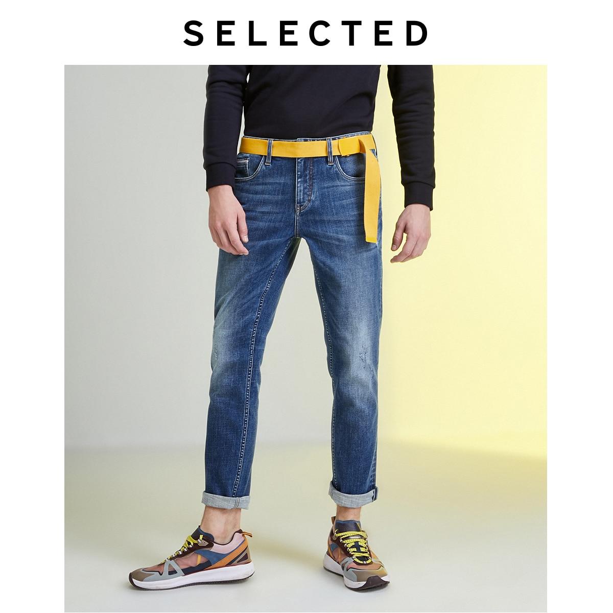 SELECTED Men's Slim Fit Denim Pants New Casual Stretch Cotton Jeans LAB|419432526