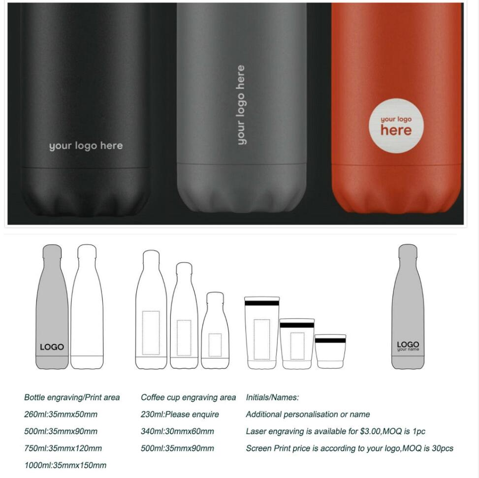 Image 5 - 500ml Double Wall Vacuum Stainless Steel Insulated Water Bottles with custom logoWater Bottles   -