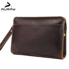 Мужской кожаный кошелек auray портмоне из натуральной кожи держатель