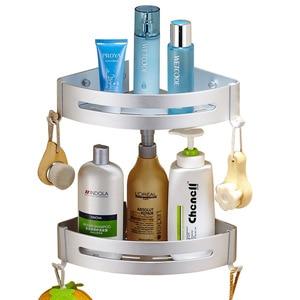 Image 5 - Bath Corner Shelf Bathroom Shower Shelf Nail free Shampoo Holder Shelves  Storage Shelf Rack Bathroom Basket Holder EL99
