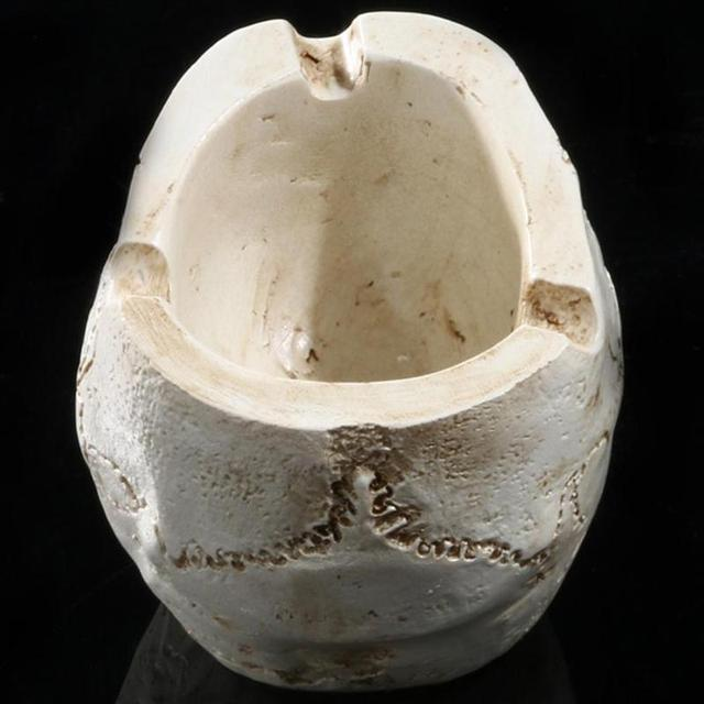 Skull Resin Ashtray Home Ornament Anti-slip Crafts Smokeless Ashtray Cigarette Holder Crafts Halloween Decorative Supplies 4