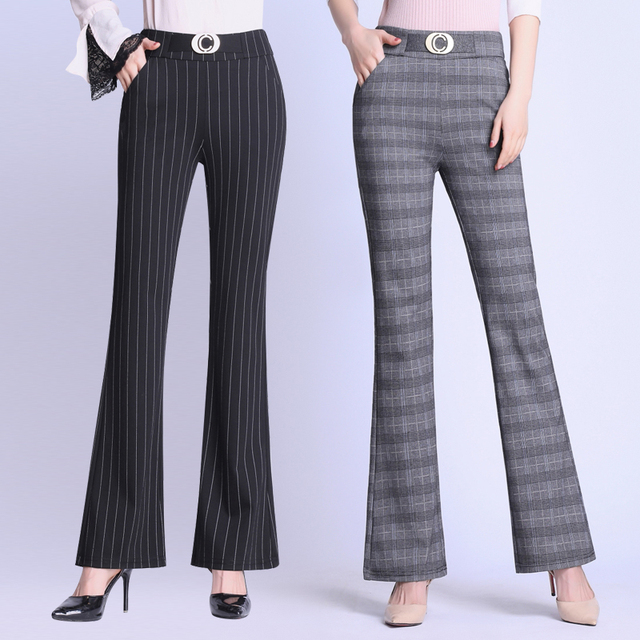 Elasticity Bell Bottom Pants  2