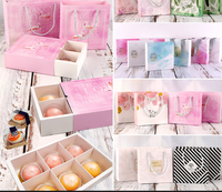 Box and Bag Gift Packaging Box Party Favor Paper Gift Packaging Box Sweet Cake Gift Boxes Wedding Supplies 50pcs/lot