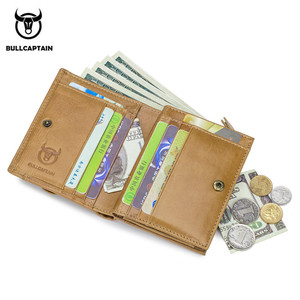 Image 3 - BULLCAPTAIN Men Wallet Genuine Leather Mens Purse Design male Wallets With Zipper Coin Pocket Card Holder Luxury Wallet