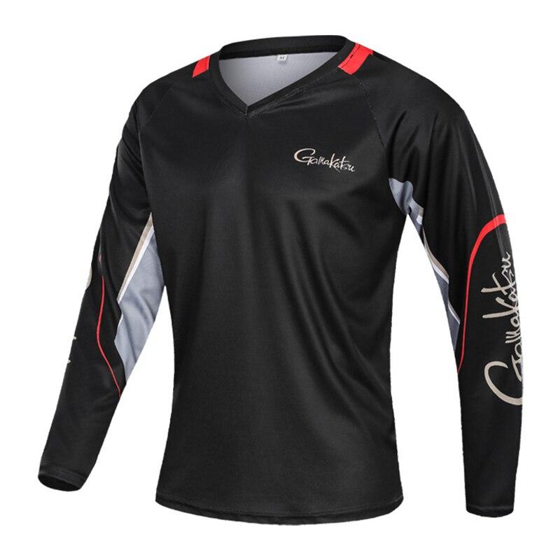 NNew Gamakatsu Fishing Clothing Long Sleeve Camping Hiking T Shirt  Anti UV Fishing Clothes Quick Drying Jerseys