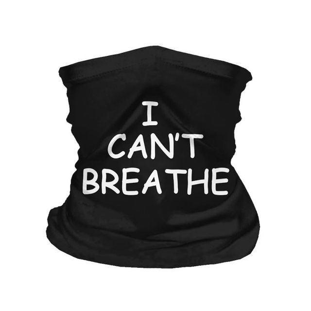 I CAN  'T BREATHE Protective Mask Riding Mask Multi-function Magic Head Scarf Scarf Bal 1