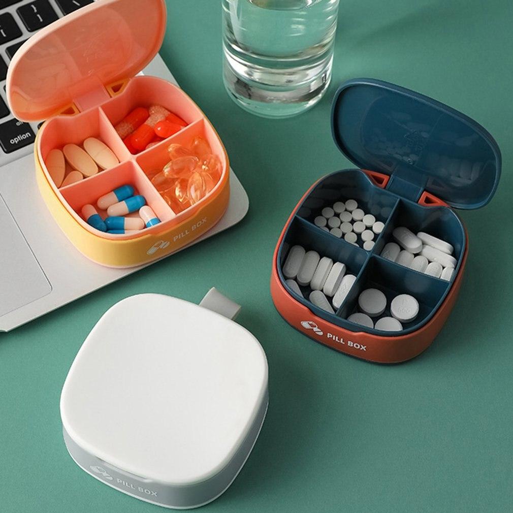 Портативный силиконовый мини-контейнер для хранения, коробка для лекарств, Диспенсер, органайзер, коробка для планшета