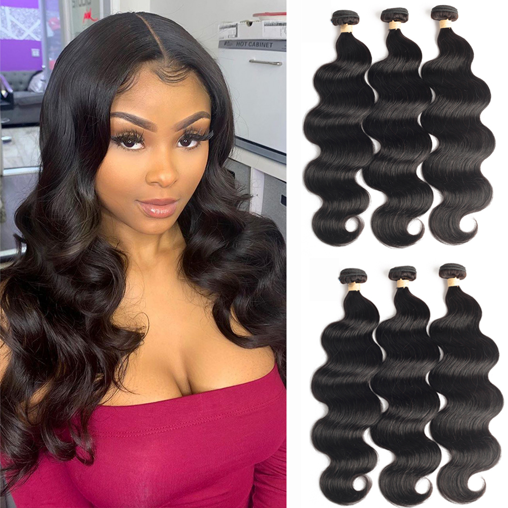 Sapphire Brazilian Hair Weave Bundles 8-24 Inches Brazilian Body Wave Remy Human Hair Extension 1/3/4 Bundle Deals Free Shipping