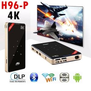 Ультра 4K мини DLP проектор Android TV Box H96-P Amlogic S905X 1 ГБ 8 ГБ/2 ГБ 16 ГБ 2,4G/5 ГГц Wifi Bluetooth HD-IN DLP светодиодный проектор