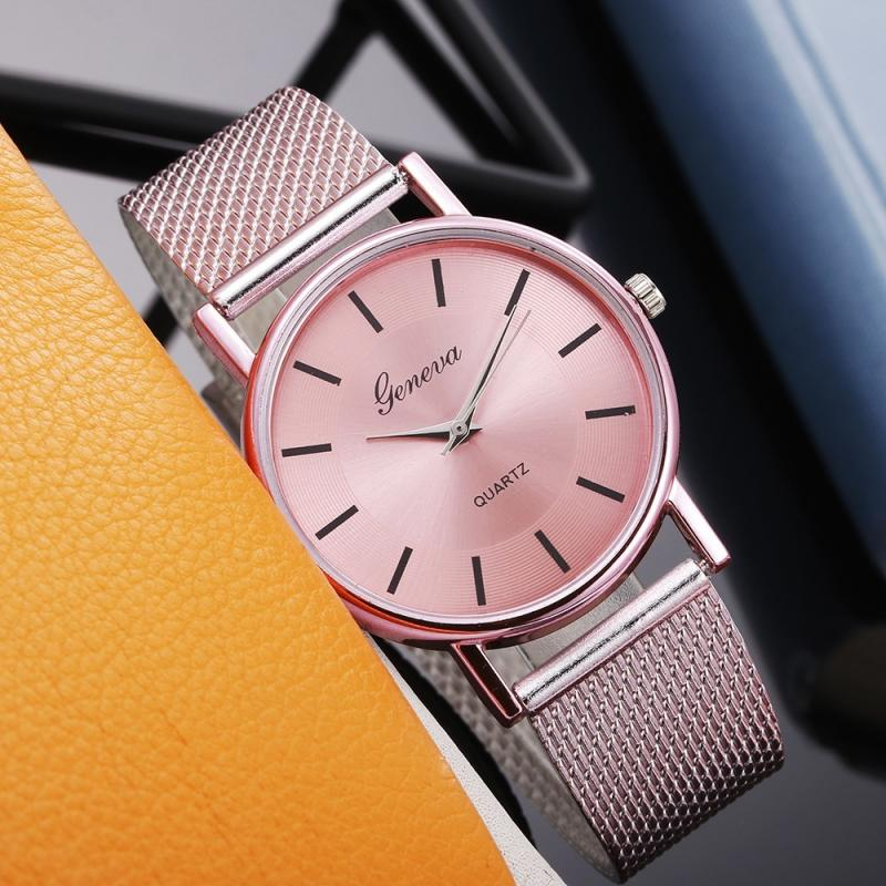 Brand Quartz Watch Woman's Wristwatch Fashion Ladies Watch Business Watch Mesh Belt Clock Female