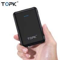 TOPK 5000mAh Mini Accumulatori e caricabatterie di riserva per iPhone Xiaomi Samsung Huawei Batteria Esterna Portatile Poverbank Caricatore