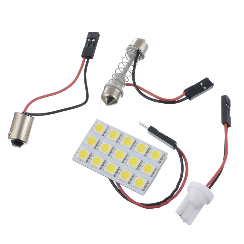 SMD RED 12 LED Interior Dome Map Light Panel T10 /& Festoon Adapter For CHEVROLET