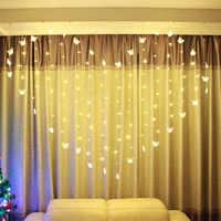 LED Farfalla Luce di Vendita Caldo 2M x 1.5m a Forma di Cuore HA CONDOTTO LA Stringa di Luce di Festa di Natale di Cerimonia Nuziale Della Decorazione Della Tenda luci 220V