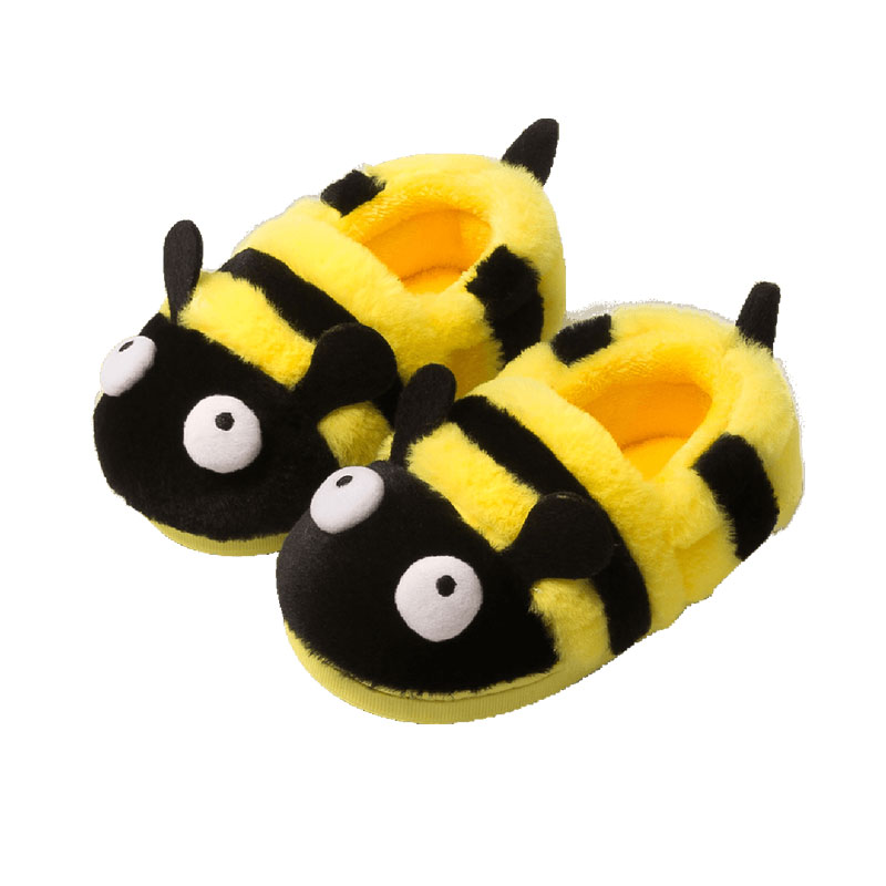 Baby Winter Warm Slippers Shoes Kids Girls Boys Cute Indoor Cartoon Bee Flock Winter Warm Non-slip Lippers Shoes HOOLER