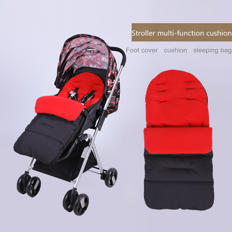 Winter Baby Stroller Pad Seat Cushion Infant Feet Covering Stroller Mattresses Envelopes Sleeping Bag Stroller Accessories